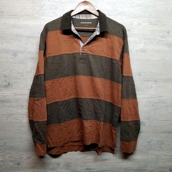 Johnston & Murphy Other - Johnston & Murphy Striped Polo Long Sleeve Shirt